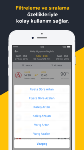 uygunfiyat - ios application main screen